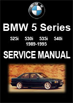 BMW E34 % Series Workshop Manual